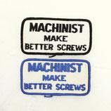 1970~80年代 デッドストック ヴィンテージ MACHINIST MAKE BETTER SCREWS メッセージ 刺繍 ワッペン
