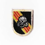 1970~80年代 デッドストック ヴィンテージ ジャーマン スカル ナチス 腕章 刺繍 ワッペン