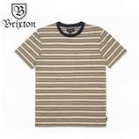 """BRIXTON """"HILT"""" ポケット付き ボーダー Tシャツ"""