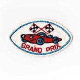 1970年代 ヴィンテージ デッドストック フェルト 刺繍 GRAND PRIX 楕円形 ワッペン パッチ