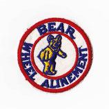 1980年代 デッドストック ヴィンテージ BEAR WHEEL ALINEMENT 丸型 ワッペン パッチ