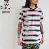 """BRIXTON """"FRACTION"""" ポケット付き ボーダー  Tシャツ"""