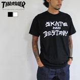 THRASHER MAGAZINE SKATE & DESTROY Tシャツ