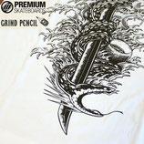 GRIND PENCIL×Premium skateboards 書き下ろし 蛇刀 ポン刀 Tシャツ