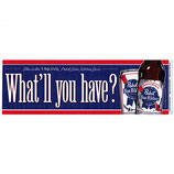 Pabst Blue Ribbon Beer 横型 バンパー ステッカー