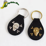 LUCKY OLDIES SHOW SKULL CHARM レザー キーホルダー