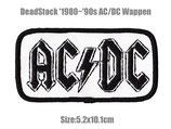 80~90年代 デッドストック AC/DC エーシーディーシー 刺繍 ワッペン パッチ