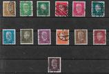Deutsches Reich FREIMARKE REICHSPRÄSIDENTEN 410-422 gestempelt (4)