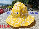Wendehut (Art.-Nr. 05 gelb / Muster Katzen) Gr. 54 - 56