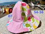 Wendehut (Art.-Nr. 07, pink mit Vögelchen) Gr. 54 - 56