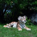 CACHORRO TIGRE TUMBADO | Figuras de tigres