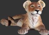 Figura de león pequeño tumbado | réplicas de leones