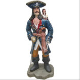 RÉPLICA DE PIRATA CON MONO EN SU HOMBRO | Figuras de piratas