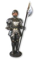 Réplica de guerrero medieval con alabarda | réplicas de guerreros