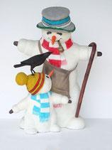Figuras de muñecos de nieve para decoración de navidad