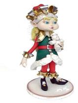 Réplica de Elfo femenina para la decoración de navidad