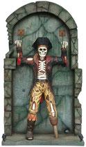 RÉPLICA DE ESQUELETO PIRATA ENCADENADO EN LA PARED | Réplicas de esqueletos
