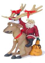 Réplica de reno papa noel | Figuras navideñas