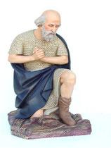 Réplica de viejo pastor rezando | Figuras de pastores