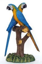 Figuras de loros azul y oro | réplicas de loros