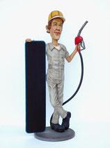 Figura de empleado de gasolinera con pizarra | Figuras de profesiones