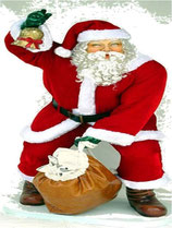 Figura de Papa noel con su saco | Atrezzo navideño