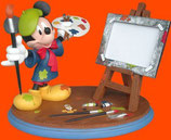 FIGURA DE MICKEY HACIENDO DE PINTOR CON CABALLETE | Figuras de Mickey