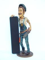 Figura de carpintero con bandeja | Figuras de carpinteros