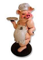 RÉPLICA DE CERDO COCINERO Y CAMARERO | Figuras de cerdos
