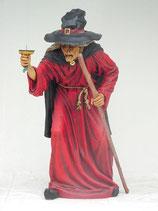 Decoración de terror con réplicas de brujas. Réplica de bruja para decorar halloween