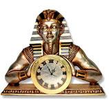RÉPLICA DE RELOJ EGIPCIO CON LA FIGURA DE FARAÓN EGIPCIO | Relojes temáticos