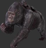 RÉPLICA DE GORILA HEMBRA CON BEBE | réplicas de gorilas
