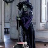 Fantástica réplica de bruja animada para una gran decoración de halloween