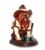 Figura de perro bulldog sheriff | Figuras de perros - decoración temática