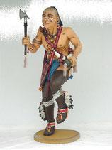 RÉPLICA DE INDIO BAILANDO BAJO LA LLUVIA | Réplicas de indios salvajes