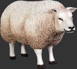 Figura de oveja de lana | figuras de animales domésticos - decoración temática