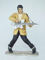 RÉPLICA DE ELVIS CON GUITARRA Y POSE CLÁSICA | Figuras de Elvis Presley