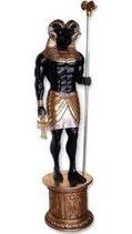 FIGURA DEL DIOS KHNUM CON BASE | Figuras de dioses egipcios