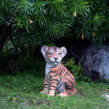 figura de cachorro tigre sentado | réplicas de tigres