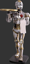 RÉPLICA DE ROBOT PLATEADO HACIENDO DE CAMARERO | Réplicas de robots