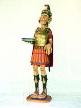 RÉPLICA DE SOLDADO ROMANO CON BANDEJA | Réplicas de soldados romanos