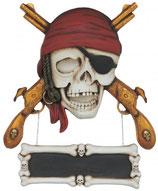 RÉPLICA DE CALAVERA PIRATA CON ARMAS | Réplicas de piratas