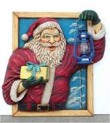 Figura de Santa Claus entrando por la ventana para decoración de navidad