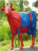 Figura de vaca spiderman | Figuras de vacas - La mejor decoración temática la encontrarás en Mundo Temático.