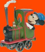 FIGURA DE MICKEY MONTADO EN UNA LOCOMOTORA | Réplicas de Mickey Mouse