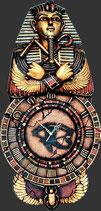 RÉPLICA DE RELOJ EGIPCIO CON FARAÓN EGIPCIO | Relojes temáticos