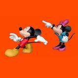 FIGURAS DE MICKEY Y MINNIE DISCUTIENDO | Figuras Disney