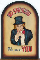 RÉPLICA DE CARTEL NO SMOKING UNCLE SAM | Carteles originales