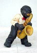 Figura de músico de jazz tocando el saxofón | Figuras musicales