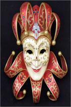 RÉPLICA DE MASCARA VENECIANA DE COLOR ROJO | Máscaras venecianas